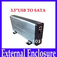 Free shipping HDD Enclosure,3.5inch standard USB2.0 SATA HDD Enclosure,Aluminum alloy Hard Drive Case HD311,MOQ=1