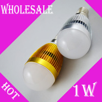 Free Shipping 1W Epiled LED Bulb Bubble Ball High Power E27 E14 wholesale Lamp Light, AC85-265V,Cool/Warm White