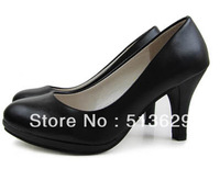Women's high heel shoes black platform pumps evening party PU shoes for women 35-39 sizes free shipping wholesale price