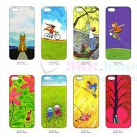 100 pcs/lot jimmy cartoon embossing Luminous back hard cover case for iphone 5 5g wholesale