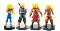Free Shipping PVC Dragon Ball Figure 4pcs Super Saiyan Doll New Toy 13cm
