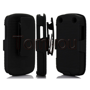 New Belt Clip Stand Holster Full Skin Case Cover For Blackberry Curve 9310 9220 9320 Free Shipping