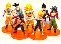 Free Shipping 7Pcs Dragon Ball Figure PVC Super Saiyan Doll Goku Toy 10CM New