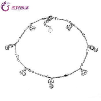 Silver female fashion s925 pure silver anklets female anklet pure silver jewelry silver anklet