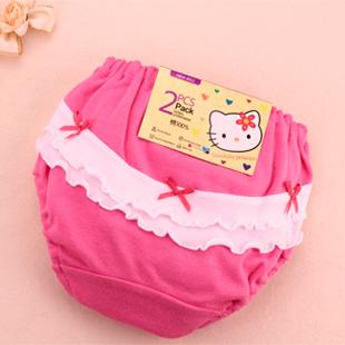 Cartoon Baby Girl in Underwear