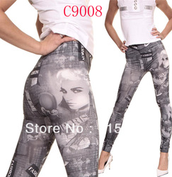 tights women pants mix model elastic graffiti Leggings Pant seven mintues pants free DHL 150PCS(China (Mainland))