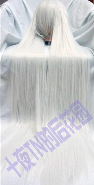 Silver high temperature - tn 130cm , rabbit cos wig(China (Mainland))