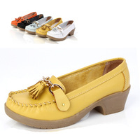 Super soft genuine leather tassel cow muscle outsole wedges mother shoes nurse shoes casual shoes single shoes women's shoes