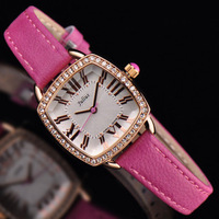 Ladies Wrist Watch Quartz Hours Best Fashion Dress Korea Bracelet Brand Leather Clock Multicolored CZ Rome JA630