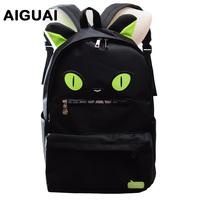 High quality thickening nylon backpack cat demon school bag devil school bag women's travel duffel bags