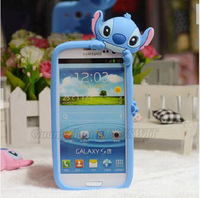 1 piece Retail Lovely Cartoon 3D Stitch Hard Back Case Cover Skind For iPhone 4 4S with Retail Package box Free Shipping