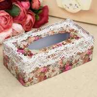 New latest Rectangle tissue box tissue iron  box free shipping 21*11.5*7cm