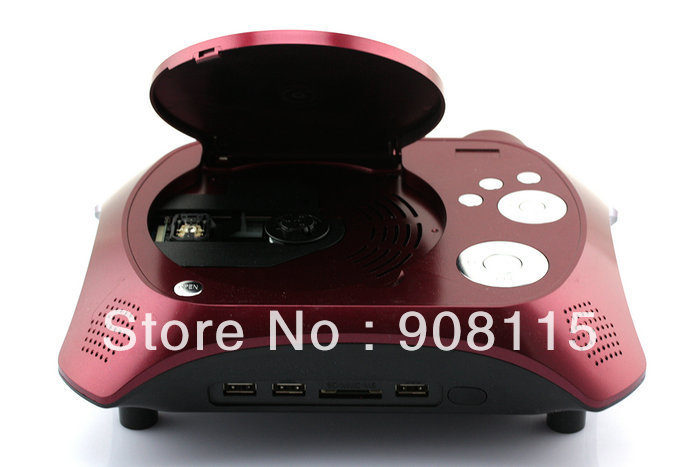 US New Portable Home Theater Portable DVD Led Projector with TV Receiver Function Free Shipping DP0116(China (Mainland))