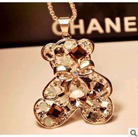 Free shipping 2013 new arrival Palace female  necklace  ancient style  bear bowknot multi-layer sweater chain long necklace