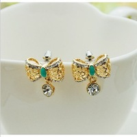 Min.order is $10 (mix order).Fashion hollow-out bowknot is water drop earrings.welcome to buy