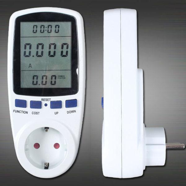 EU Plug Power Energy Watt Voltage Amps Meter Analyzer with Power Electricity Usage Monitor(China (Mainland))