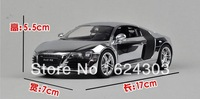 Free Shipping! 2013  newest !   1:24 Audi R8 alloy  Car Model  best gift