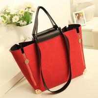 New fahion women's handbag nubuck leather shoulder bag handbag big bags fashion messenger bag in bag wholesale handbags for 2013