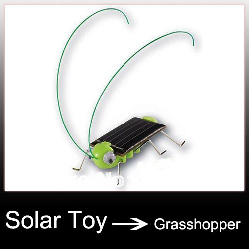 Solar Powered Toy Grasshopper Locust 10pcs/lot(China (Mainland))