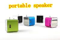 new arrival 40pcs Multi-colours TD-V26 Portable USB TF Card Radio Mini Digital Speaker high pure sound DHL Free Shipping