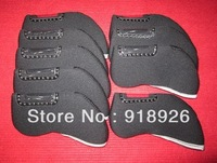 Free Shipping BLACK (9pcs/set) NEW SOFT GOLF CLUB HEAD COVERS FOR IRON SET