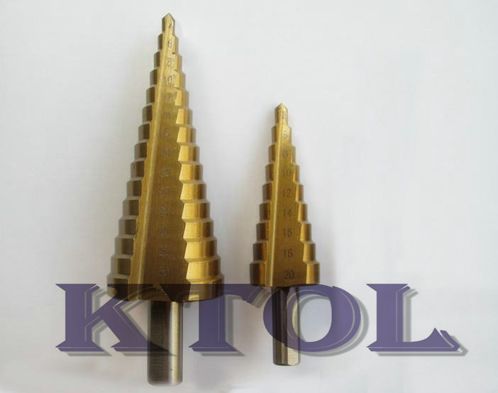 3pcs/set straight metal step drill bits steel 6542 round shank for cutting holes drilling steel wood iron pvc Al(China (Mainland))