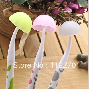 24PCS Hot Sale 0.38mm mushroom pen Gel Ink Pen Ballpoint Pen Promotional pen  kids study Gift Stationery