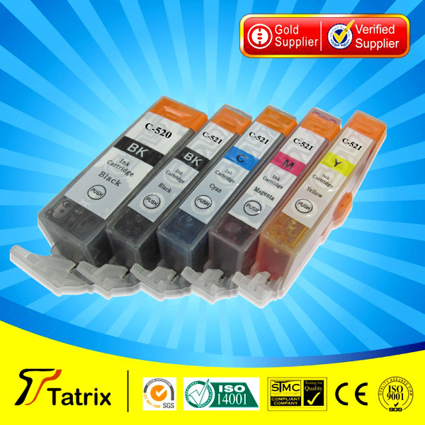 Free Shipping , PGI-520 CLI-521 Ink Cartridge for Canon PIXMA IP4850 IX6550 MG5150 MG5250 MG6150 MG8150 MX885 Ink Cartridge(China (Mainland))