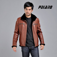 Gm 2012 winter genuine leather clothing male rex rabbit hair liner one piece outerwear