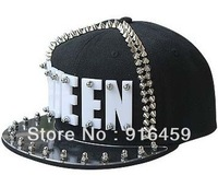 Promotion Free shipping QUEEN offset 8 Colors PUNK Hiphop baseball snapback Rivet Spike studded Dance Cap hats