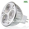 Free shipping &amp; High Power,  High Brightness, 3x1W LED spotlight (L serious), MR16/GU5.3, CE &amp; RoHS, 3 Years Warranty Time