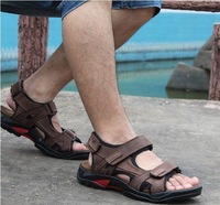 Camel summer sandals male sandals leather sandals male sandals genuine leather plus size 456