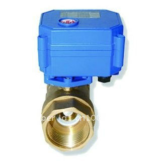 1'' Actuated valve Brass, DC5V Motorized valve 2/3/5 wires, DN25 electric ball valve for fan water heating(China (Mainland))
