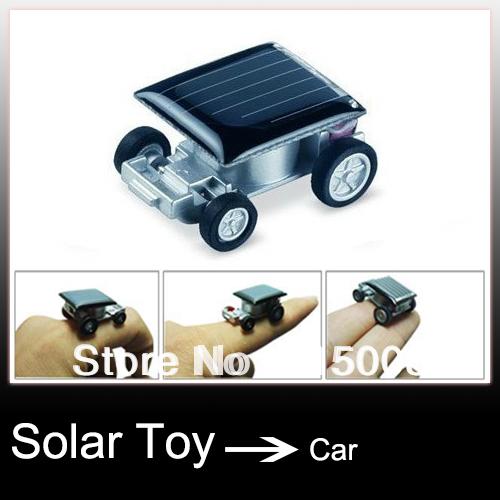 Solar Powered Toy Mini Car 10pcs/lot(China (Mainland))