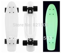 "Free Shipping Blank  22"" Classic Penny skate board Glow in the dark Hoverboard 2013 Version White-Black-Black"