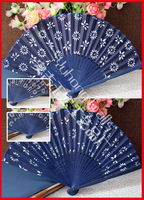Free shipping 100pcs/lot traditional Chinese gift and craft hand fan with flower designs assorted
