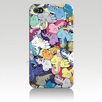 IZC1226 my little pony wholesale Hard plastic Cover Case For Iphone 4 4s iphone 5 Retail Package + Free Shipping