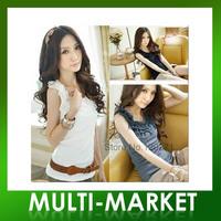 Free shipping/ New 2013 Women Cute Joker Lace Small Vest Render Unlined Upper Garment  Wholesale