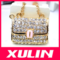 Bling Bling Flatback Crystal Bag Jewelry Accessories Glitter Sticker For Cell Mobile Phone Case Deroration Cover(China (Mainland))