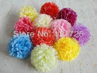 9 cm silk flower Carnation flowers  Heads for Wedding Christmas Party  Diy Jewlery Brooch Headwear decoration