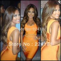 Lace orange HL Bandage Dress HL dress Evening Dress