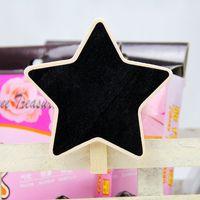 8*6cm star Blackboard /Wood Blackboard memo/Message board/Wooden doorplate 20pcs/lot Free shipping
