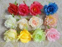 8 cm artificial rose Flower head for wedding high imitation decoration