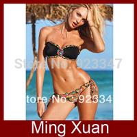 Free Shipping 2013 new Brand Lady's Sexy Floral Bikini Swimwear Bathing Suit  1set/lot