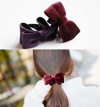velvet hair clip promotion