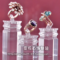 Free Shipping Quality ring display rack 3 piece a set transparent acrylic ring display stand jewelry props wholesale