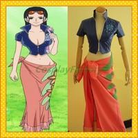 Free Shipping Custom Made One Piece Cosplay Nico Robin Hot Dress Costume,1kg/pc