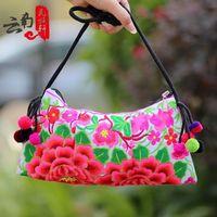 Women's messenger bag national trend embroidered bag double faced embroidered day clutch messenger bag shoulder bag