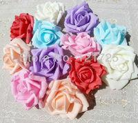 6 cm artificial PE rose Flower head for wedding high imitation