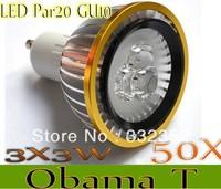 50XDimmable Led Lamp E27/GU10/MR16/E14/GU5.3/B22/E12 Par20 3X3W 9W Spotlight 85V-265V Led Light Led Bulbs with good quality